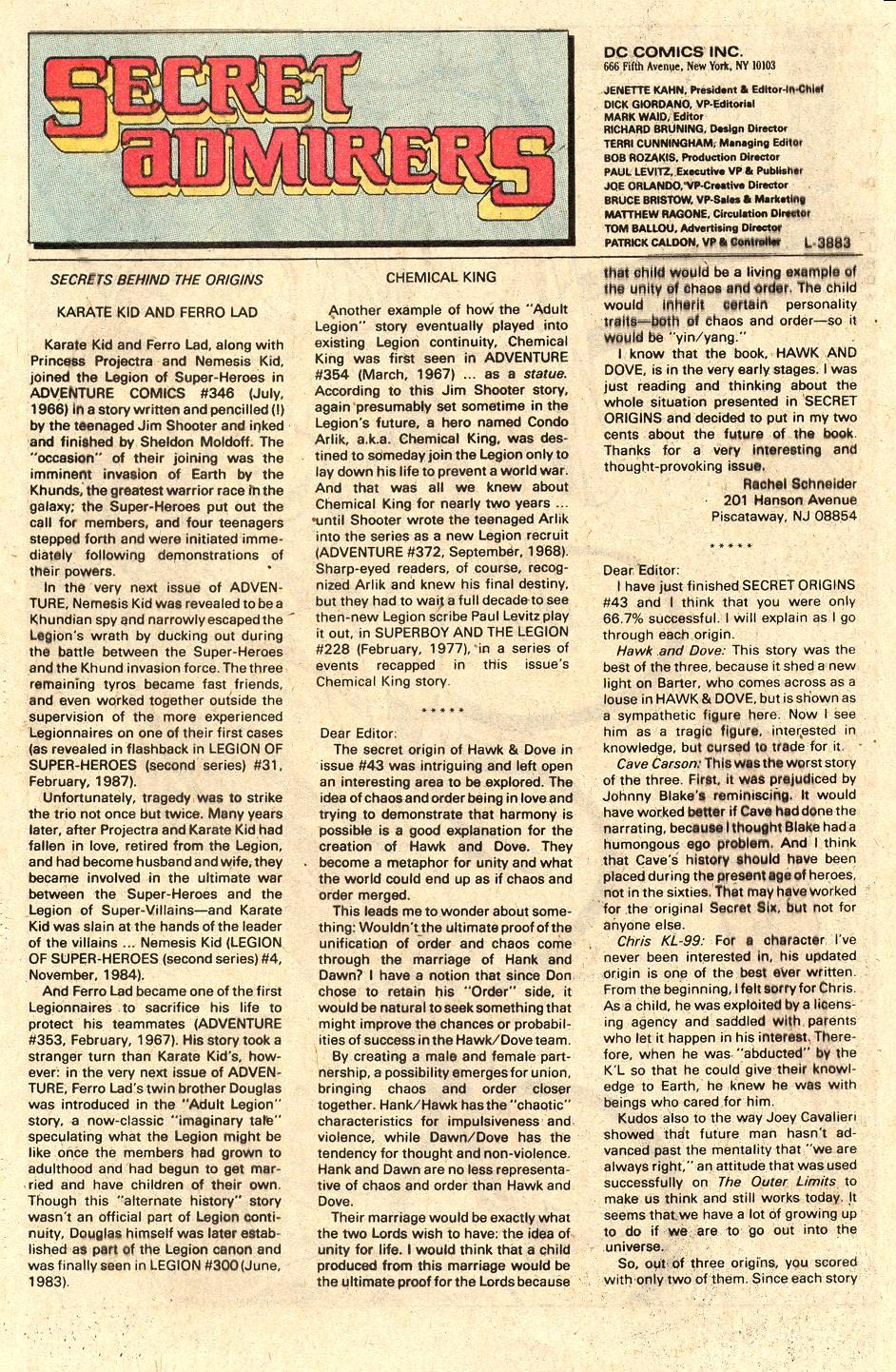 Read online Secret Origins (1986) comic -  Issue #47 - 39