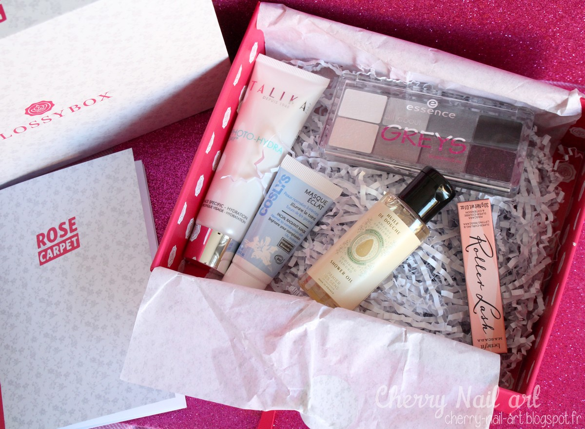 glossybox novembre 2015 rose carpet