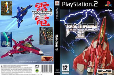 Jogo Raiden III PS2 DVD Capa