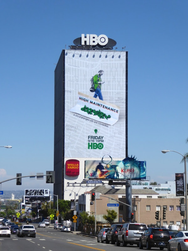 Giant High Maintenance series launch billboard