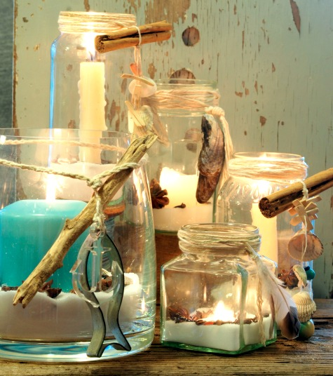 Naturally Scented Candle Jar Lanterns