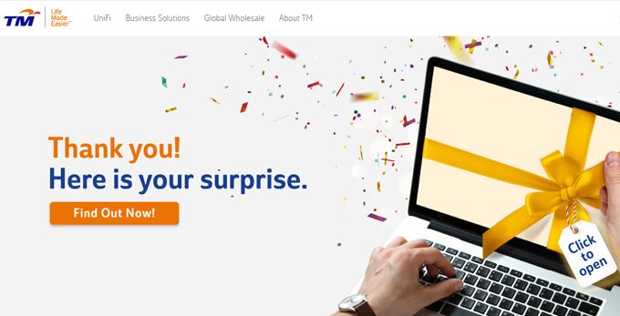 Kejutan Khas Untuk Pelanggan Telekom
