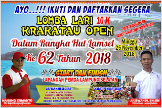 Ayo Daftar!!! Dispora Lamsel Buka Pendaftaran Lomba Lari 10 Km