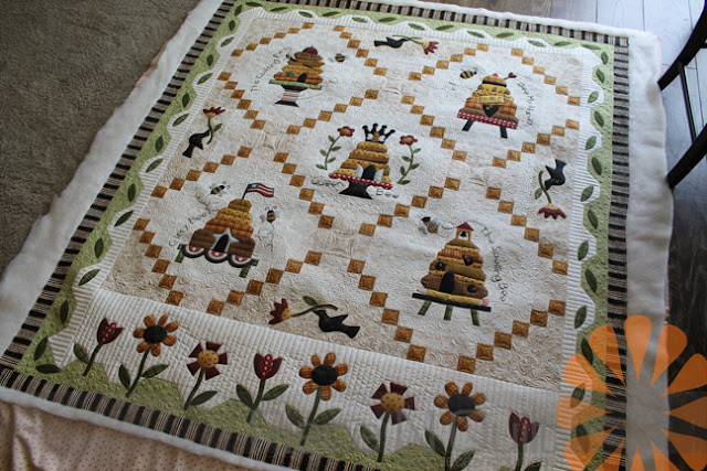 Piece N Quilt Beehive Quilt Custom Machine Quilting By