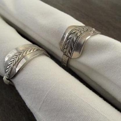 Daur ulang sendok silver jadi cincin serbet