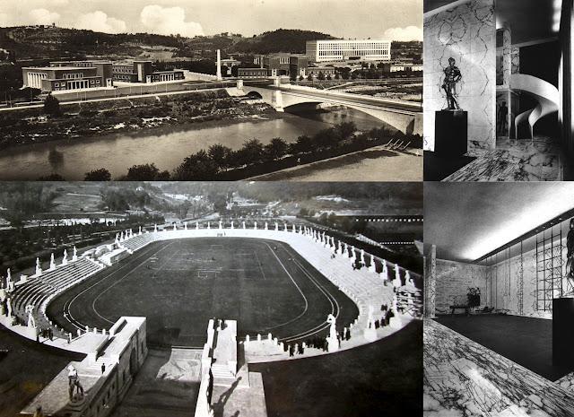 Roma - Foro Italico, Stadio dei Marmi, Palestra Mussolini (late 30's)