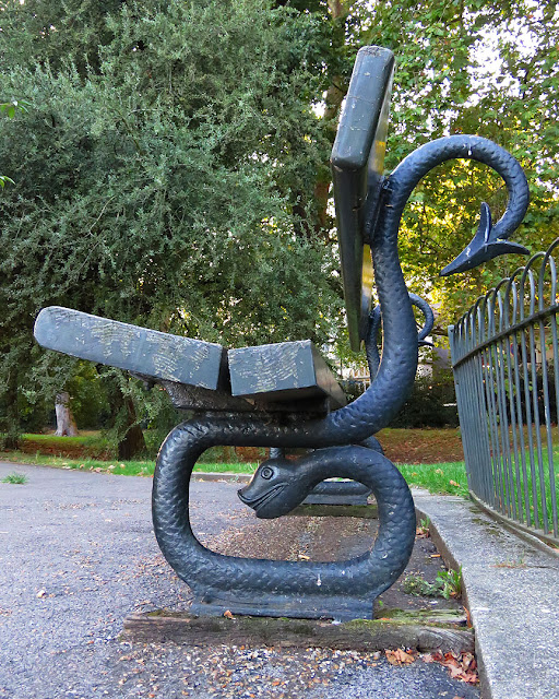Bench with snakes, Kensington Gardens, London