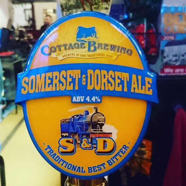 somerset and dorset ale from cottage brewing pump clip