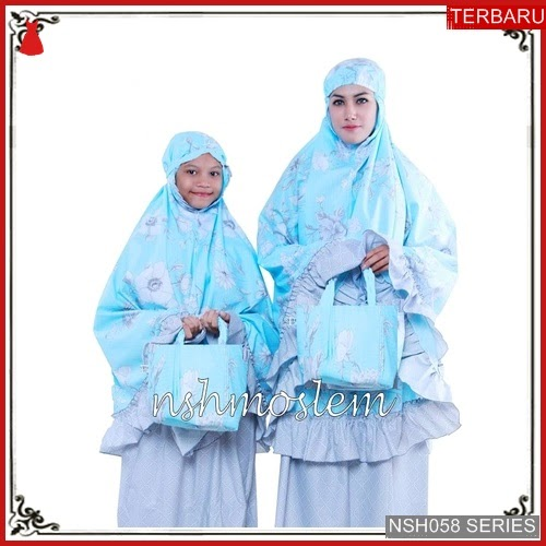 NSH058M150 MUKENA MODEL ELZATTA COUPLE IBU BMGSHOP