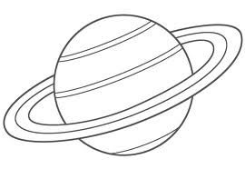 printable coloring pages of planets | Coloring Pages for Kids: Planet Saturn Coloring Pages
