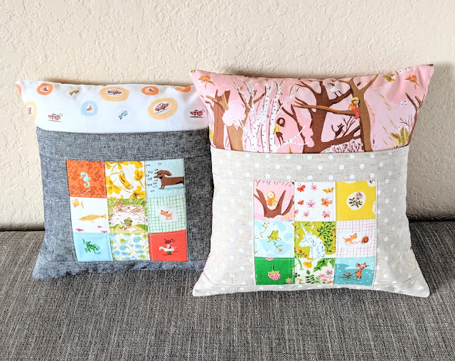 Heather Ross Book Nook Pillows from Sew Organized for the Busy Girl by Heidi Staples for Fabric Mutt
