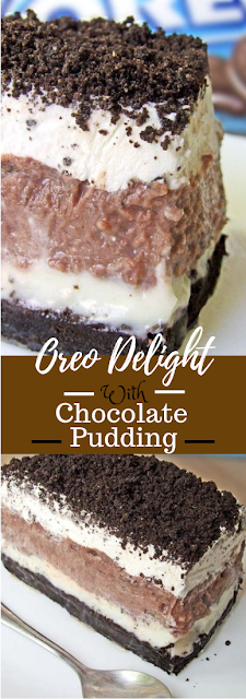 Oreo Delight with Chocolate Pudding #dessert #chocolate #puding