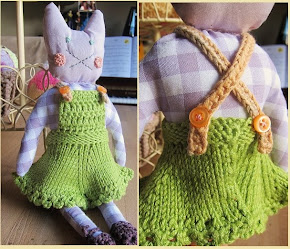 Fabric crochet dolly