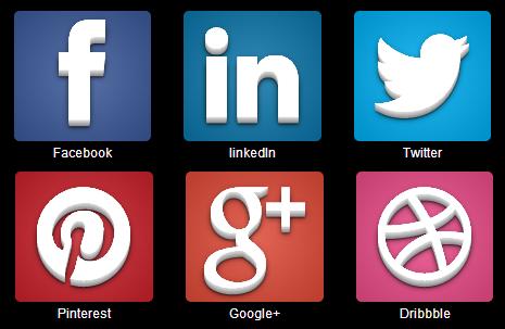 Free Cool big social media icon 3d