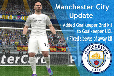 PES 2016 Manchester CIty kit 2016-17 update by Edwin