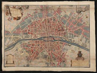 Plan de Paris 1707 par Nicolas de Fer