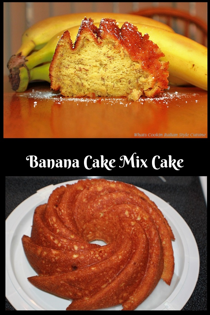 This is a semi homemade cake using bananas and transforming the cake mix into a cake that taste like it was made from scratch