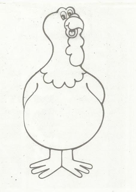 Monster image regarding turkey body printable