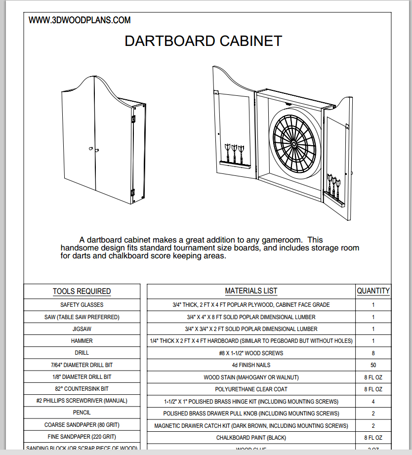 Timbo39s Creations Dartboard Cabinet