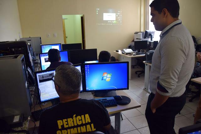 Peritos criminais são treinados para uso de software da Polícia Federal