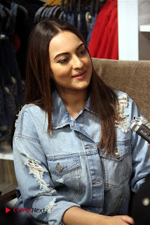 Actress Sonakshi Sinha Pos in Denim Jeans at Forever 21 Shop Launch at Express Avenue Mall  0003.jpg