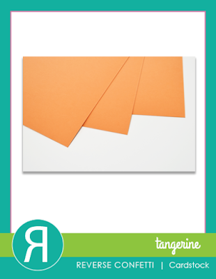 tangerine cardstock