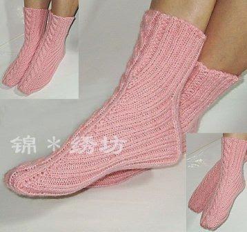 Tru Knitting носки на двух спицах без швов