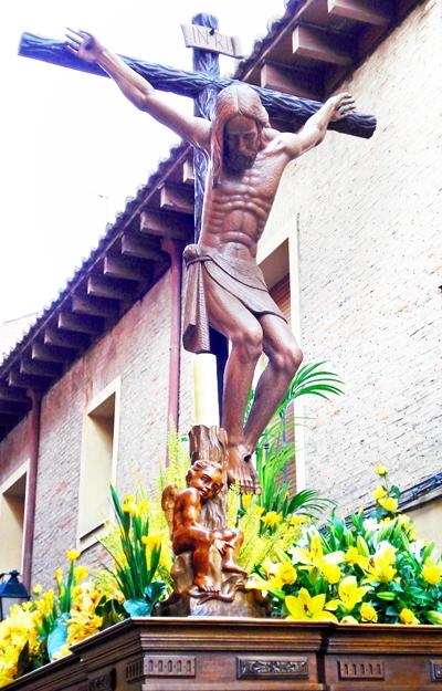 Santísimo Cristo de la Agonía. Cofradía de Jesús Nazareno. León. Foto G. Márquez.