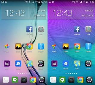 Cara Membuat Tampilan / Tema HP Android Seperti Samsung Galaxy S6