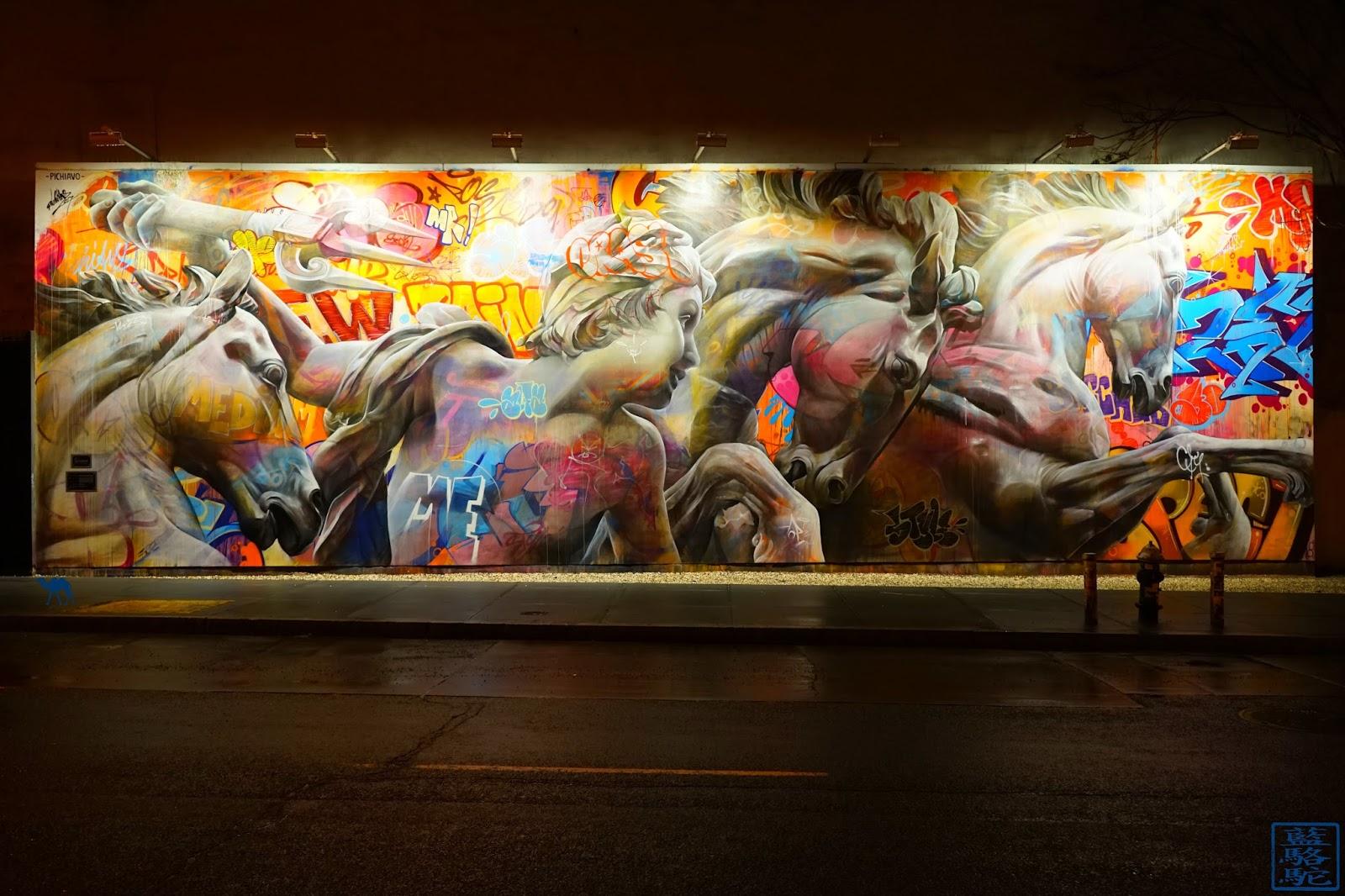 Le Chameau Bleu - Street Art New York USA - Voyage à new York