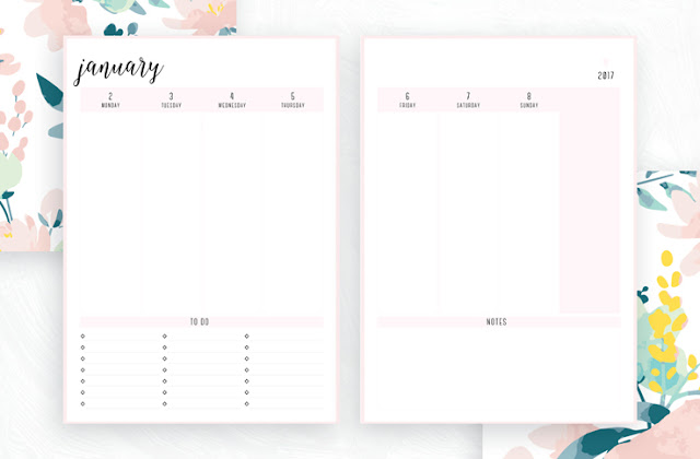 Free Printable Irma 2017 Weekly Planner // Eliza Ellis. Available in 6 colors and in both A4 and A5 sizes. Daily, weekly and monthly diaries, planners and calendars also available.