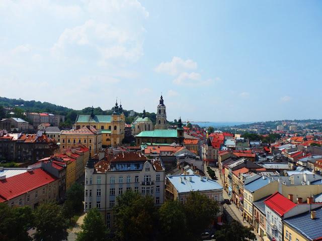 Panorama Przemyśla z wieży Muzeum Fajek i Dzwonów