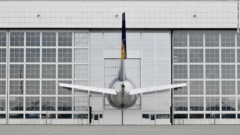 루프트한자 A380 뮌헨공항 격납고