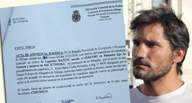El activista Lagarder, detenido y notificado para expulsión del Estado español
