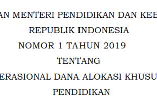 Petunjuk Operasional DAK (Dana Alokasi Khusus) Fisik Bidang Pendidikan Tahun 2019