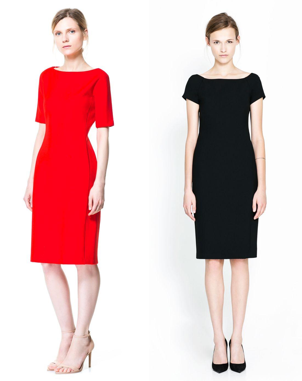 03a7c5532ca2d8 Idealnie - przykład czerwonej sukienki ukazuje najbardziej przepisową  długość rękawka w biurze. Red dress with perfect length of sleeves.