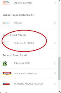 langkah 5 Bayar Pakai Kartu Kredit dan debit di Tokopedia - metode pembayaran kartu kredit dan debit