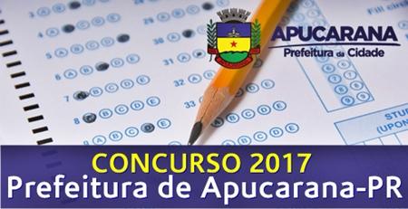Apostila Concurso Prefeitura de Apucarana PR 2017