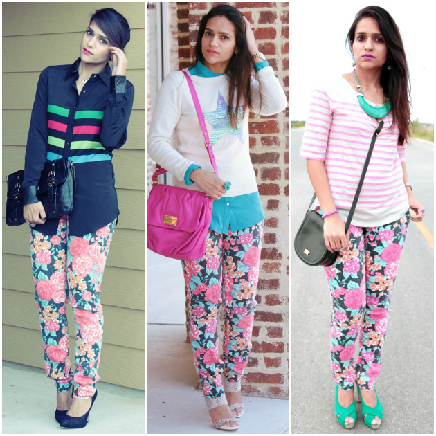 Three Ways To Wear Flora Denims Tanvii.com