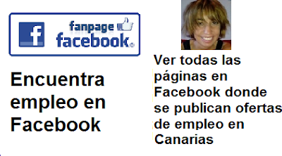 Páginas en Facebook, Las Palmas, Lanzarote, Fuerteventura, con ofertas de empleo