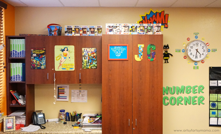 3rd Grade Classroom Tour with Superhero Theme