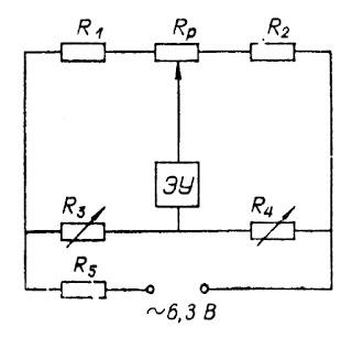Схема соединений для проверки газоанализатора типа МН