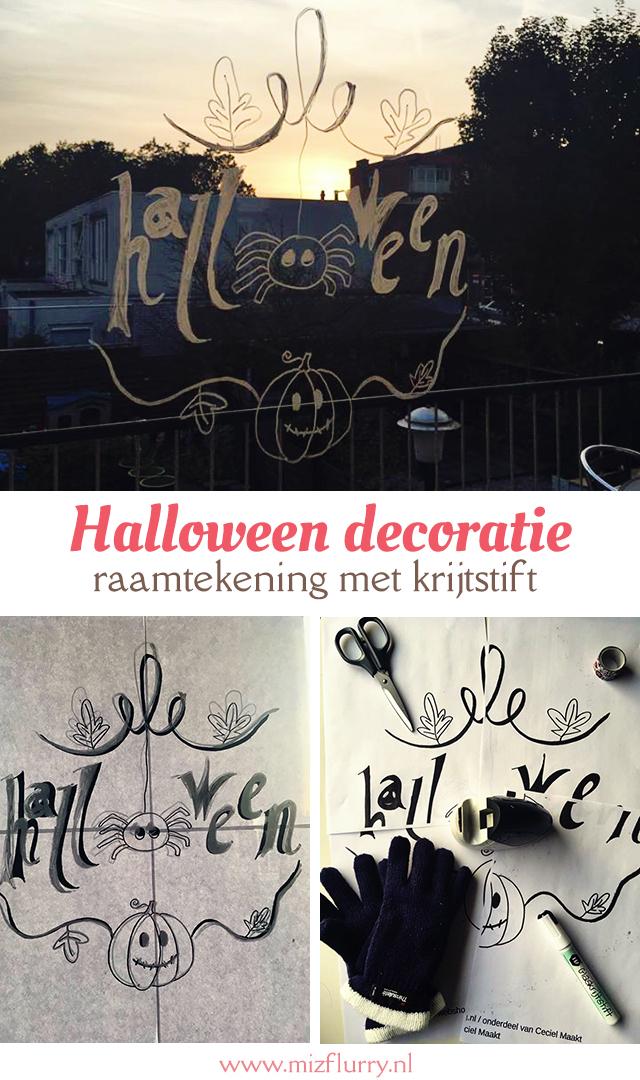 Halloween decoratie: maak een raamtekening
