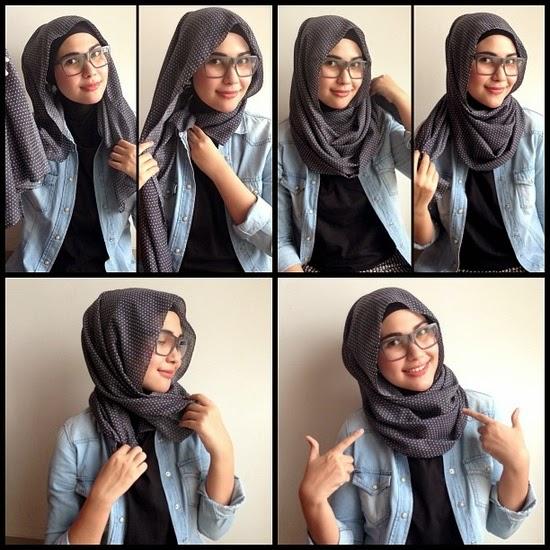 Cara Mudah Memakai Jilbab segi empat terbaru untuk sehari-hari Untuk remaja