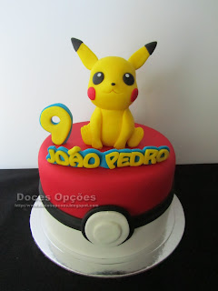 Bolo de aniversário Pokémon