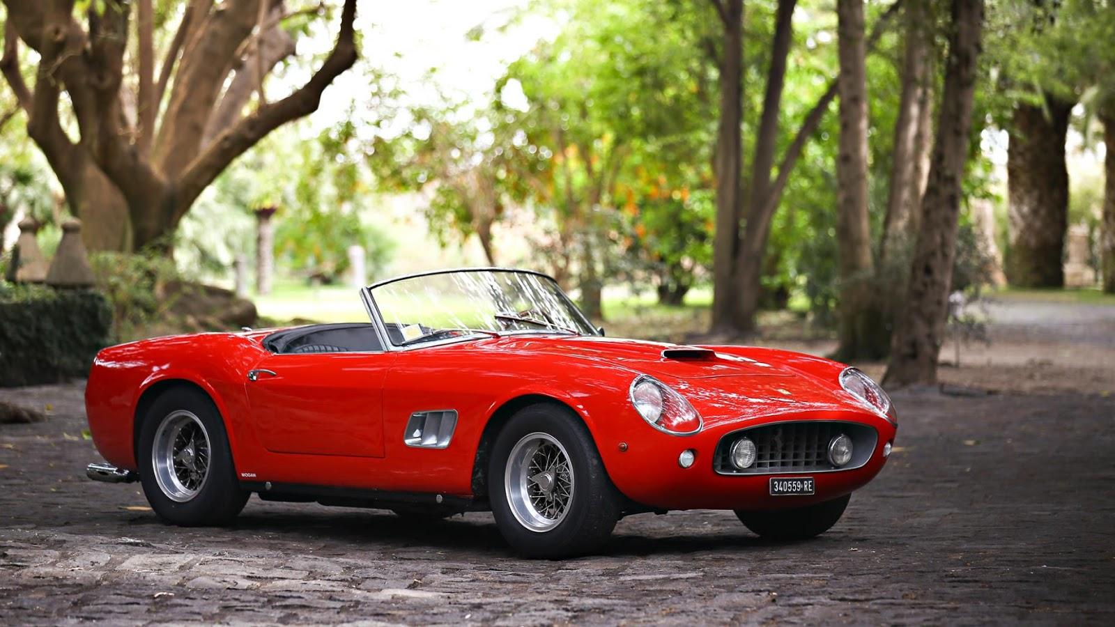 1961 Ferrari 250 GT California SWB Spyder (closed headlight): $17,160,000