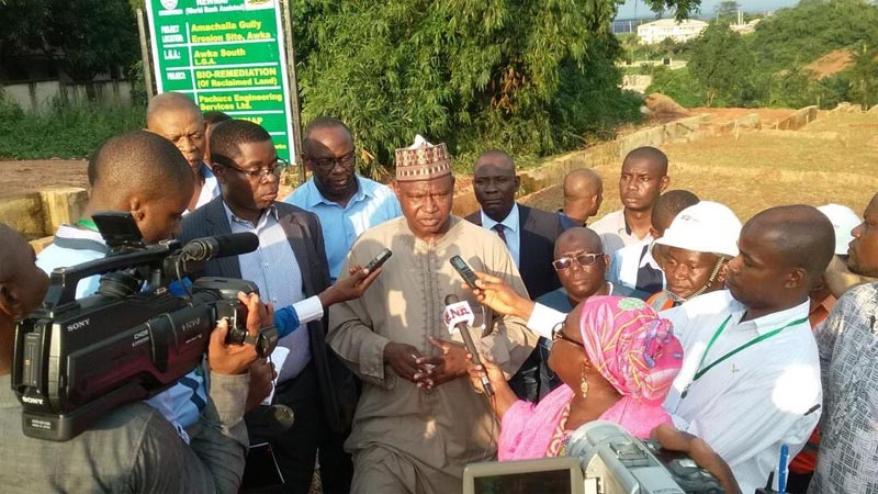 Photos: Minister of state for Environment visits reclaimed erosion site in Anambra