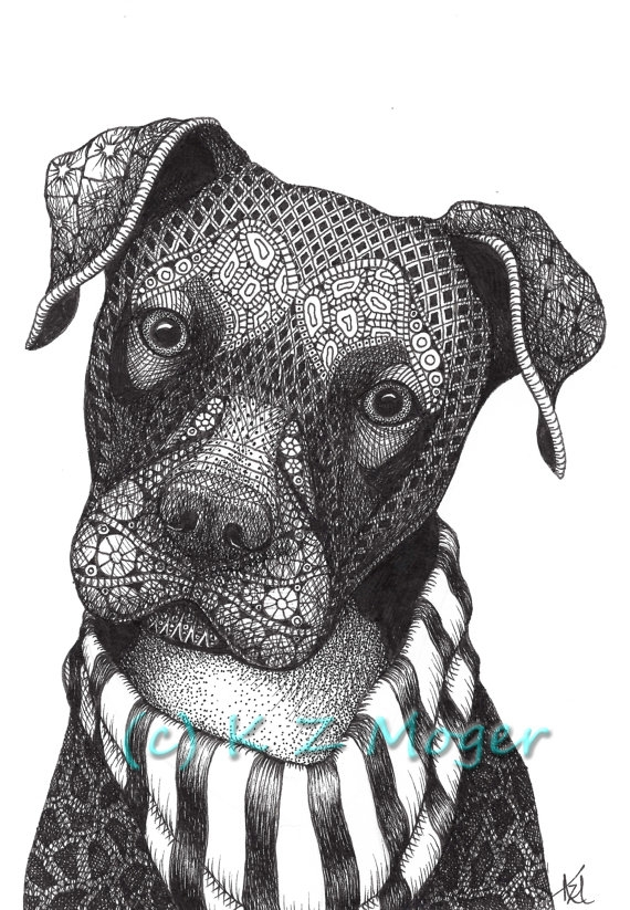 14-Mixed-breed-Kristin-Moger-Domestic-and-Wild-Zentangle-Animal-Portraits-www-designstack-co