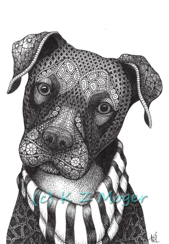 14-Mixed-breed-Kristin-Moger-Domestic-and-Wild-Zentangle-Animal-Portraits-www-designstack-co