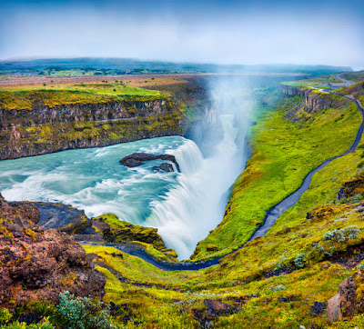 Gullfoss waterfall, part of Iceland's Golden Circle